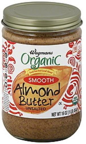 Wegmans Organic, Smooth, Unsalted Almond Butter - 16 oz
