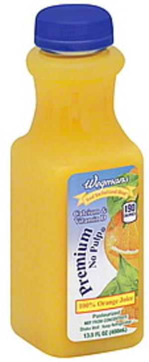 Wegmans Orange, Premium, No Pulp 100% Juice - 13.5 oz