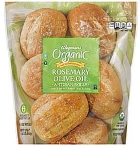 Wegmans Rolls Artisan, Organic, Rosemary Olive Oil