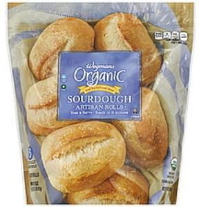 Wegmans Rolls Artisan, Organic, Sourdough
