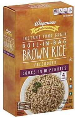 Wegmans Brown Rice Instant Long Grain, Boil-in-Bag