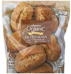 Wegmans Rolls Artisan, Organic, Multigrain