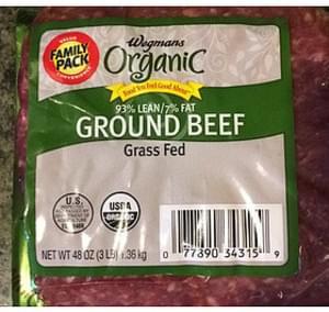 Wegmans Organic Ground Beef Grass Fed