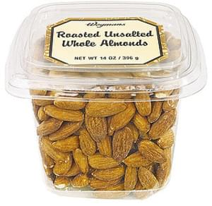 Wegmans Nuts & Seeds Roasted Unsalted Whole Alomonds