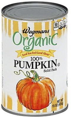 Wegmans Pumpkin 100%, Solid Pack, Organic