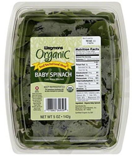 Wegmans Organic Baby Spinach - 5 oz