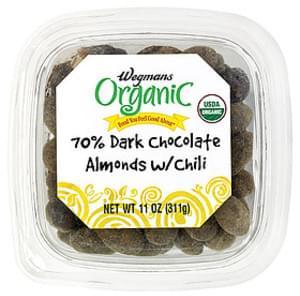 Wegmans Chocolate 70% Dark Chocolate Almonds with Chili