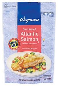 Wegmans Atlantic Salmon Atlantic Salmon, Farm Raised, Skinless & Boneless, FAMILY PACK