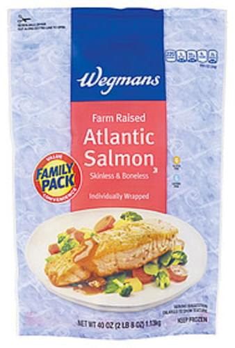 Wegmans Atlantic Salmon, Farm Raised, Skinless & Boneless, FAMILY PACK Atlantic Salmon - 40 oz