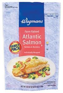 Wegmans Atlantic Salmon Atlantic Salmon, Farm Raised, Skinless & Boneless, FAMILY PACK