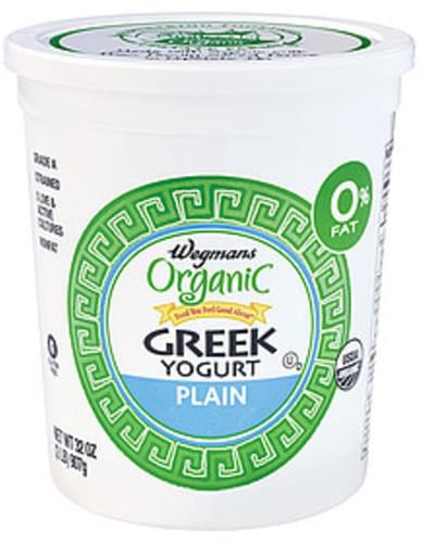 Wegmans Greek Yogurt, Plain, FAMILY PACK Yogurt & Yogurt Drinks - 32 oz