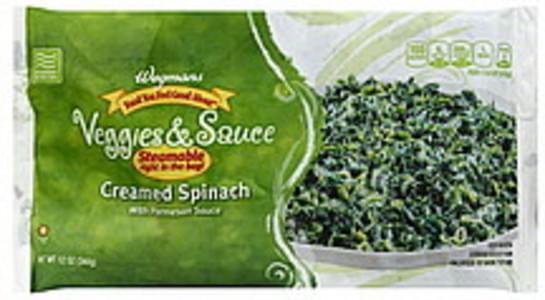Wegmans Creamed Spinach with Parmesan Sauce