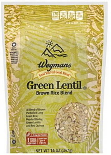 Wegmans Green Lentil Brown Rice Blend - 14 oz