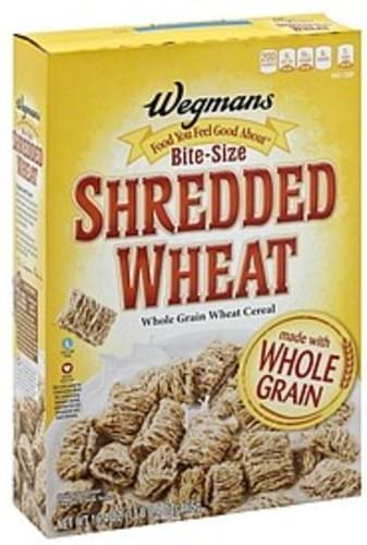 Wegmans Shredded Wheat, Bite-Size Cereal - 16.4 oz
