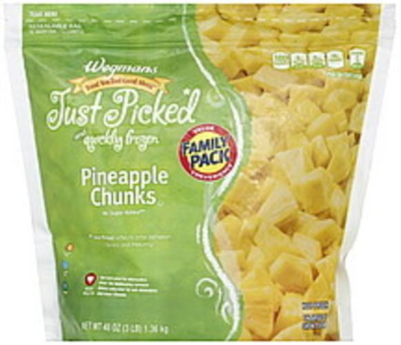 Wegmans FAMILY PACK Pineapple Chunks - 48 oz