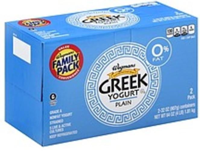 Wegmans Greek, Nonfat, Strained, Plain, FAMILY PACK Yogurt - 2 ea