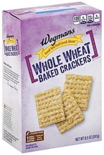 Wegmans Baked, Whole Wheat Crackers - 8.5 oz