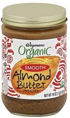 Wegmans Almond Butter Smooth, Unsalted