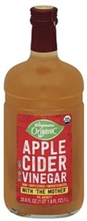 Wegmans Apple Cider, Unfiltered Vinegar - 33.8 oz