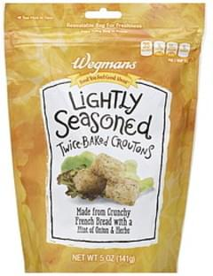 Wegmans Croutons Twice-Baked, Lightly Seasoned
