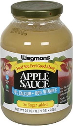 Wegmans No Sugar Added Apple Sauce - 25 oz