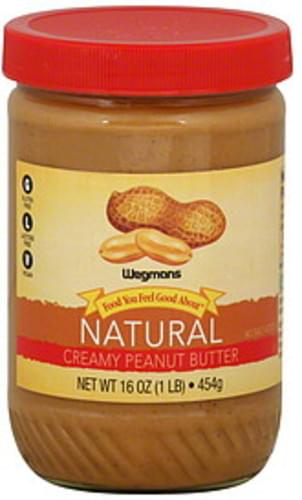 Wegmans Natural, Creamy Peanut Butter - 16 oz