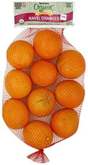 Wegmans Navel, Organic Oranges - 64 oz