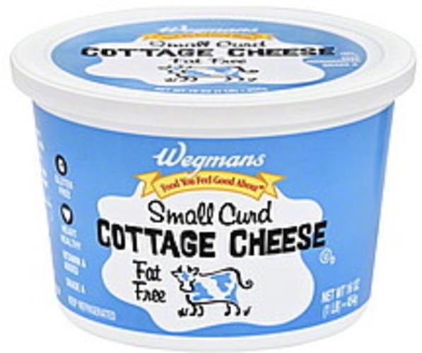 Wegmans Small Curd, Fat Free Cottage Cheese - 16 oz