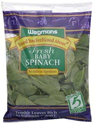 Wegmans Fresh Baby Spinach - 6 oz