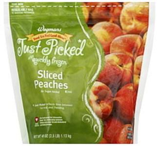 Wegmans Peaches Sliced