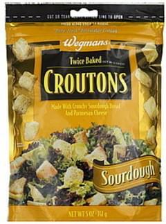 Wegmans Croutons Twice Baked, Sourdough