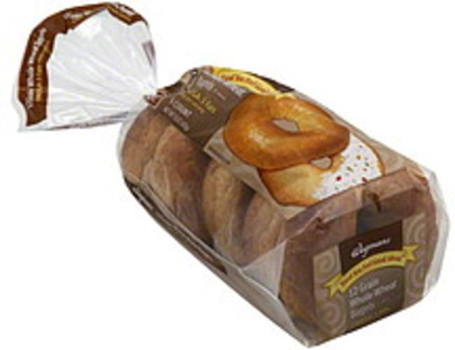 Wegmans 12 Grain Whole Wheat Bagels - 5 ea
