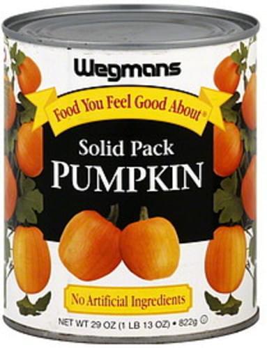 Wegmans 100%, Solid Pack Pumpkin - 29 oz