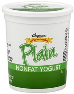Wegmans Yogurt Nonfat, Plain
