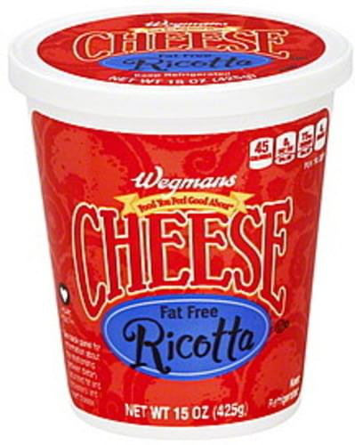 Wegmans Fat Free Ricotta Cheese - 15 oz