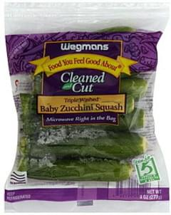 Wegmans Zucchini Squash Baby, Tripled Washed, Cleaned and Cut
