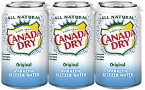 Canada Dry Sparkling Seltzer Water Original