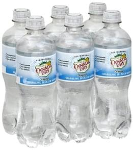Canada Dry Sparkling Seltzer Water Original, 6-Pack