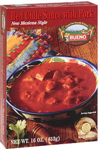 Bueno Red Chile With Pork Sauce - 16 oz