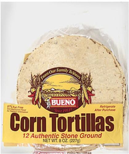 Bueno 12 Ct Corn Tortillas 8 Oz Nutrition Information Innit