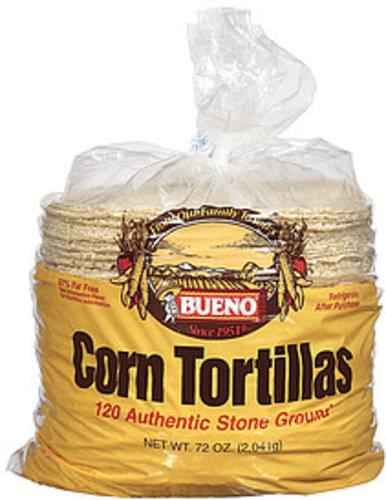 Bueno 120 Ct Corn Tortillas - 72 oz