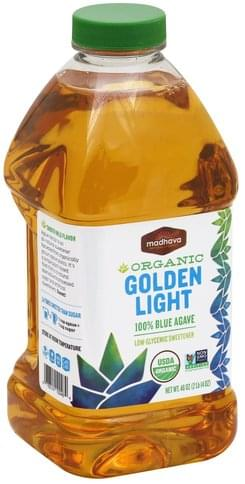Madhava Low-Glycemic, Organic, 100% Blue Agave, Golden Light Sweetener - 46 oz