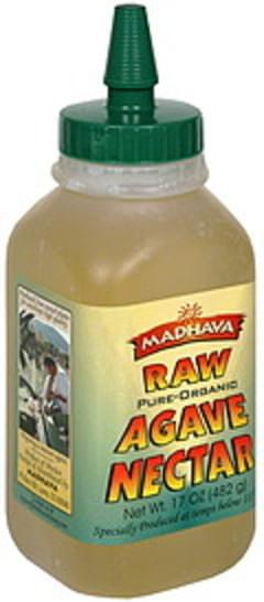 Madhava Agave Nectar Raw, Pure-Organic