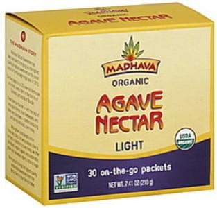 Madhava Agave Nectar Organic, Light, On-the-Go Packets
