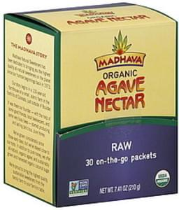 Madhava Agave Nectar Organic, Raw, On-The-Go Packets