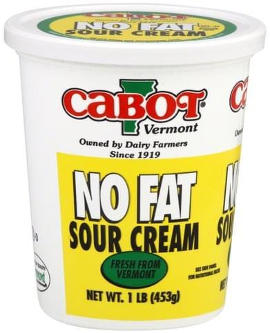 Cabot No Fat Sour Cream - 1 lb