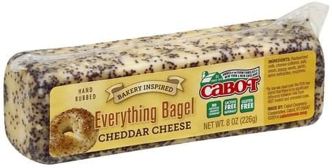 Cabot Everything Bagel Cheddar Cheese - 8 oz, Nutrition Information