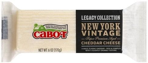 Cabot New York Vintage Cheddar Cheese - 6 oz, Nutrition Information