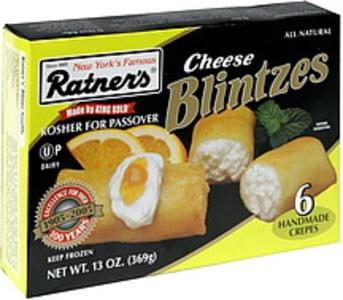 Ratners Handmade Crepes Cheese Blintzes