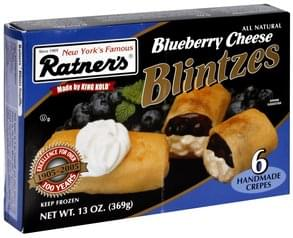 Ratners Blueberry Cheese Blintzes